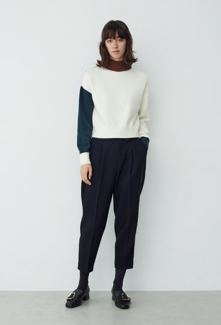 Color combination knit